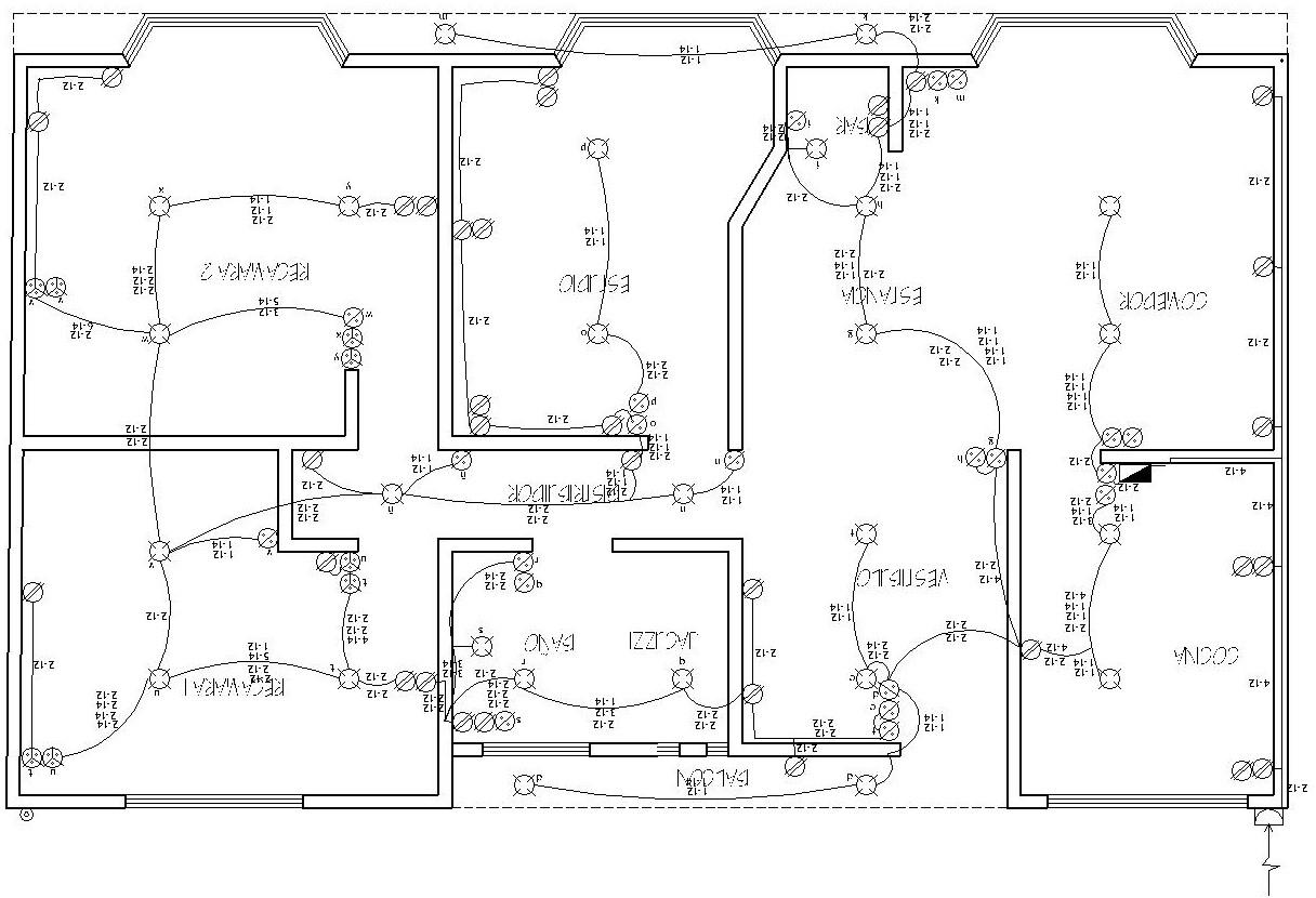 Realizaci n de un plano el ctrico arqzon for Normas para planos arquitectonicos