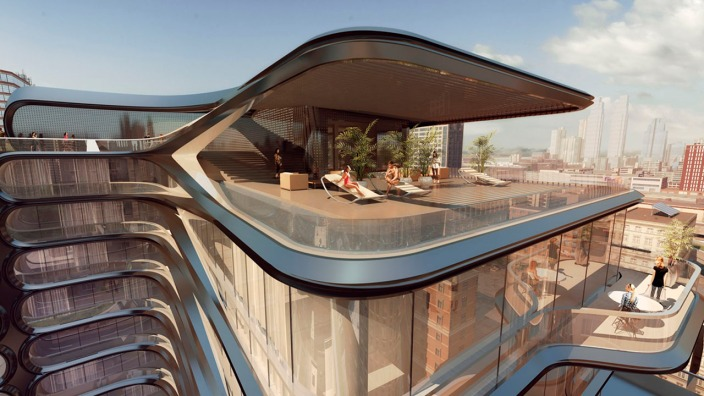 Proyecto de Vivienda en 520 West 28th street ll Arq. Zaha Hadid ll Architects Metalocus